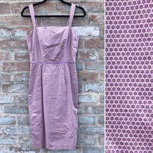 J. Crew Sheath Dress Lavender Ditsy Print Midi